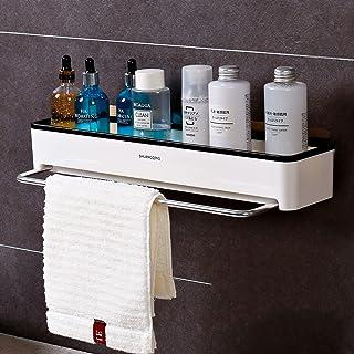 CGLOVEWYL Support de Rangement Mural pour étagère de Salle de Bain avec Porte-Serviettes Organisateur shampooing Stockage ...