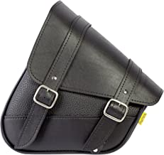 Dowco Willie & Max 59776-00 Triangulated Synthetic Leather Motorcycle Swingarm Bag: Black, 9 Liter Capacity