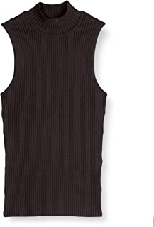 The Drop Women's Karolina Sleeveless Mock Neck Rib Sweater