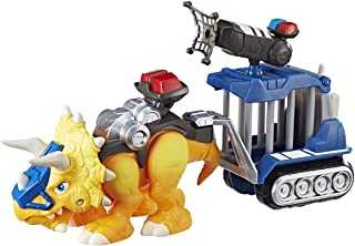 Playskool Chomp Squad Officer Lockup, Triceratops Dinosaur Figure, Police Toy with Pretend Jail Cell, Dinosaur Toy for Kid...