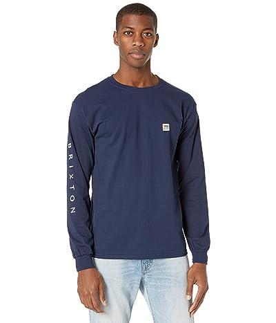 Brixton Alton II Long Sleeve Standard Fitting T-Shirt (Navy) Men