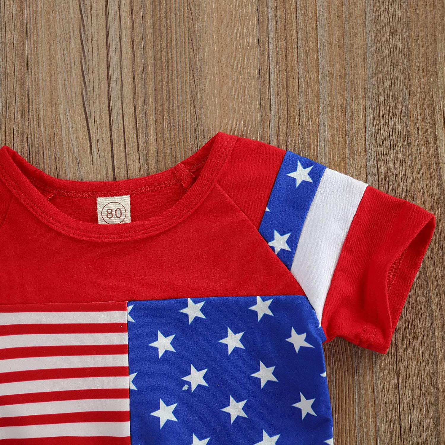 NvekeyBromn 4th of July Toddler Baby Boys Girl Clothes Sleeveless Top American Flag Short Sets Independence Day
