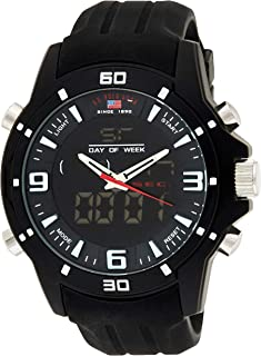 U.S. Polo Assn. US9490 Men's Quartz Watch, Analog-Digital Display and Stainless Steel Strap