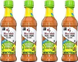 Nando's Lemon & Herb PERi-PERi Sauce - Fresh Lemons and Herbs Extra Mild Sauce | Gluten-Free | Non-GMO - 9.1oz Bottle (4 Pack)