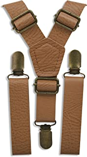 Kids suspenders - Adjustable Wedding Ring Bearer Leather Like for Kids Ages 2 mos to 17 Years - By London Jae Apparel