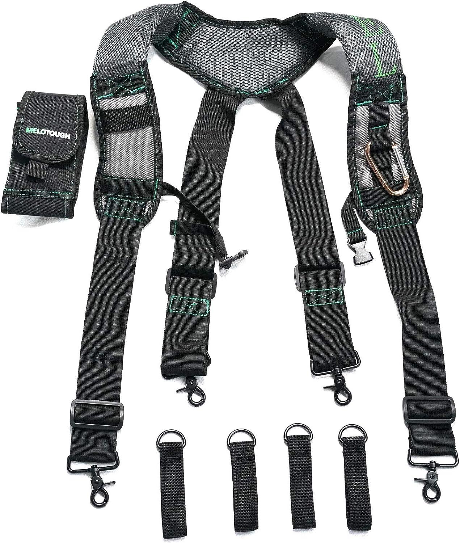MELOTOUGH Selling rankings Gel Construction Work Manufacturer direct delivery Suspender Tool Suspenders w Belt