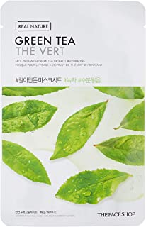 The Face Shop Real Nature Green Tea Face Mask, 20 g