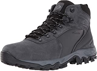 Columbia Newton Ridge Plus II Suede Waterproof Boot - Wide Men High-Traction Grip
