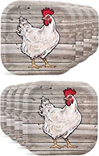 chicken party plates