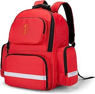 کوله پشتی خالی از آسیب دیدگی Trunab ، کوله پشتی خالی ، کیت های اضطراری پزشکی کیسه ذخیره سازی جام برای EMT ، EMS ، پلیس ، آتش نشانان ، افسران ایمنی ، قرمز