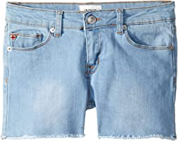 Fray Hem Shorts in Sunwashed (Big Kids)