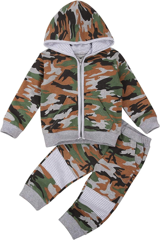 Toddler Baby Boy Girl Long Sleeve Hoodie Set Fall Winter Leopard Shirt Legging Pants Sweatsuit 2pcs Tracksuit