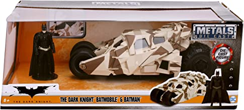 Jada Toys 1: 24 Scale The Dark Knight Batmobile Die-cast Vehicle with Batman Figure, Multicolor