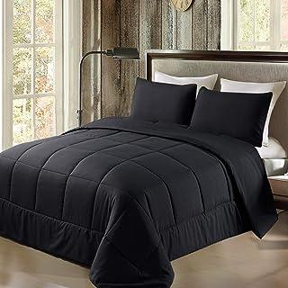 Exclusivo Mezcla Lightweight Reversible 3-Piece Comforter Set for All Seasons, Down Alternative Comforter w...