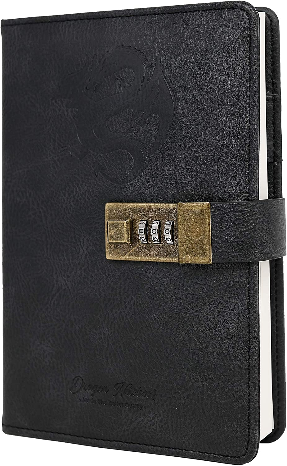 Special price for a limited time Dragon Leather Journal Hardcover Di Notebook Chicago Mall Locked Refillable