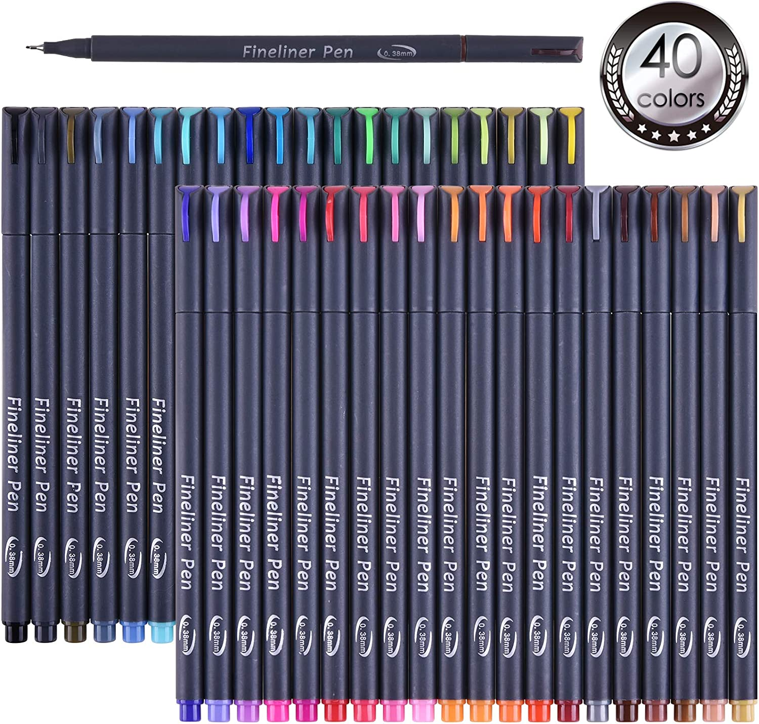Tebik 45 Pack Journal Planner San Francisco Mall Colors Pens Drawi Free shipping Colored 40