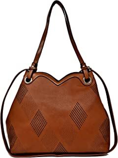 ALEX T.G. Women Handbag HEART Brown Color