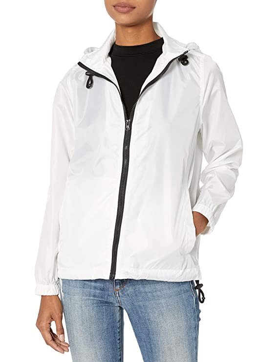 Pink Platinum womens Lightweight Hooded Waterproof Packable Rain Jacket