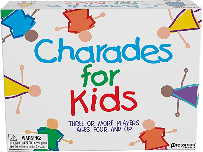 """Pressman Charades for Kids -- The 'No Reading Required' Family Game, 5"""""""