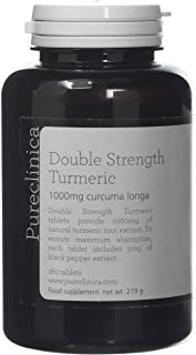 Double Strength Turmeric - Massive 1000mg x 180 tablets -
