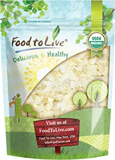 Organic Coconut Chips, 3 Pounds - Non-GMO, Kosher, Raw, Desiccated, Unsweetened, Unsulfured, Dried Flakes, Vegan, Keto, Bu...