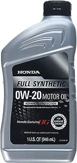 Honda 08798-9063 0W-20 Blended Full Synthetic Motor Oil, 1 Quart Bottle, 32. Fluid_Ounces