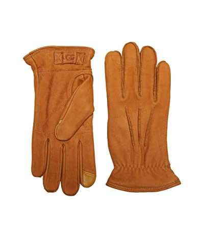 UGG 3 Point Leather Tech Gloves with Sherpa Lining (Chestnut) Extreme Cold Weather Gloves