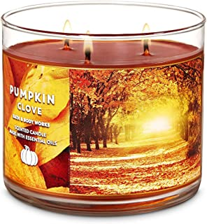 Bath and Body Works Pumpkin Clove Candle - Large 14.5 Ounce 3-Wick - New for Fall 2019