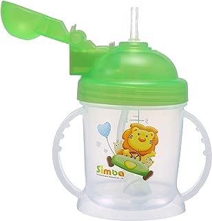 Simba BPA Free Baby Training Cup w/ 360° Flex Straw (Green, 6 oz)