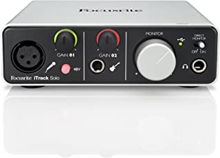 Focusrite Itrack Solo Lightning & USB Compatible Audio Interface