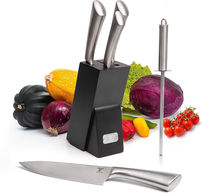 Professional Kitchen Knife Chef Set, Knife Set With Block, Kitch