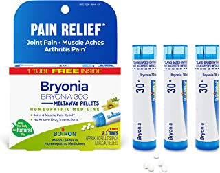 Boiron Bryonia 30c Homeopathic Medicine for Joint Pain Relief, 3 Tubes