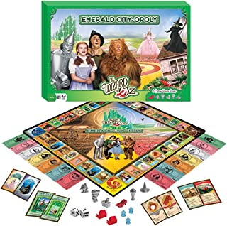 Wizard Of Oz Emerald City-Opoly Game w/ 6 Collectible Pewter Token Pieces