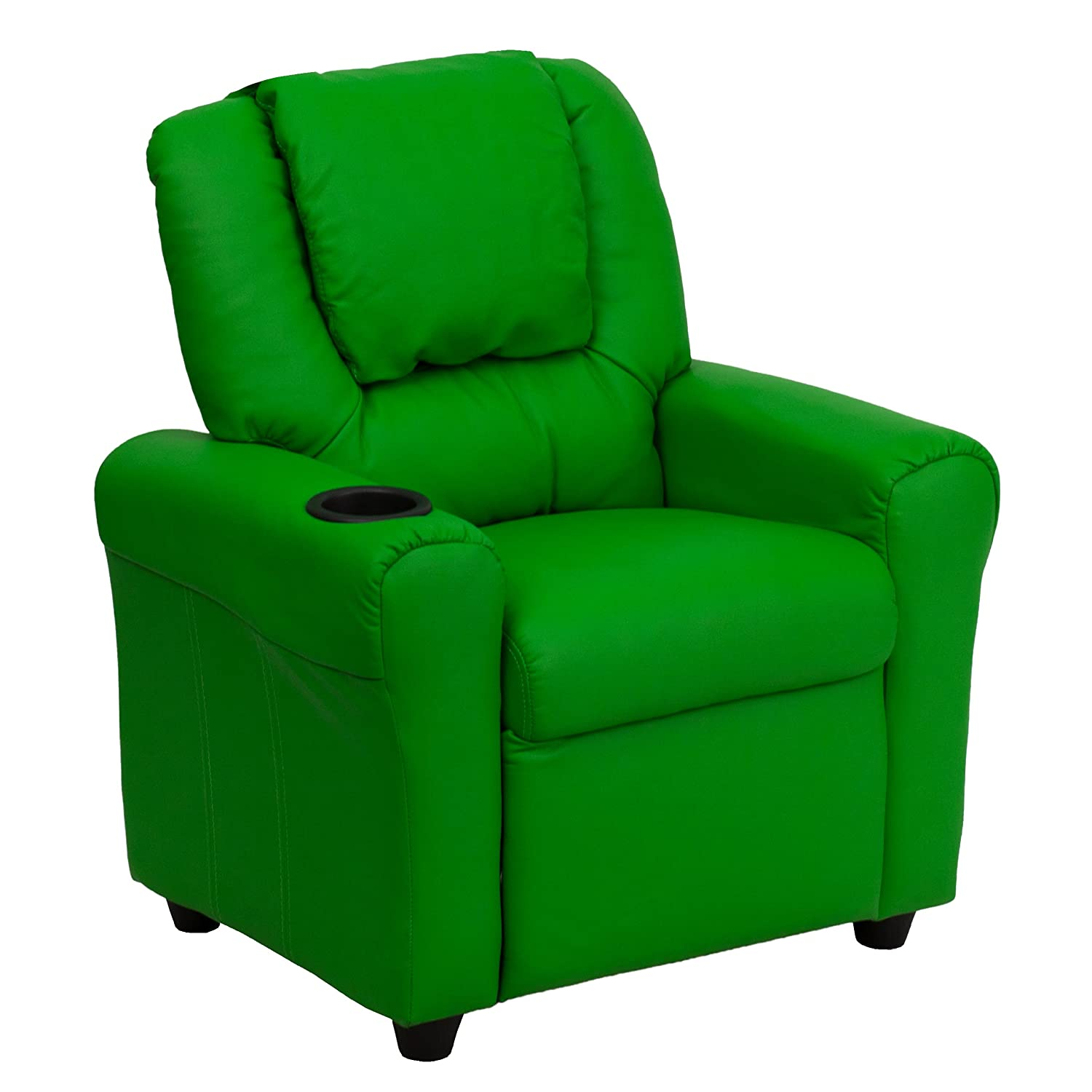 Contemporary Green Vinyl Kids Recliner Holder Outlet sale feature Headr Cup with and Max 52% OFF
