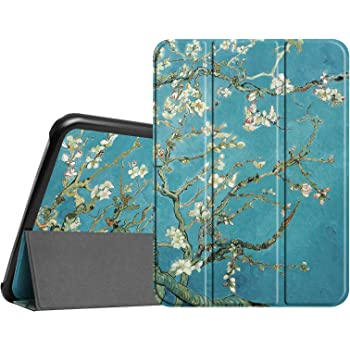 Fintie Slim Case for Samsung Galaxy Tab 4 10.1 2014 Release Model SM-T530/T531/T535, Ultra Lightweight Protective Stand Cover with Auto Sleep/Wake Feature, Blossom