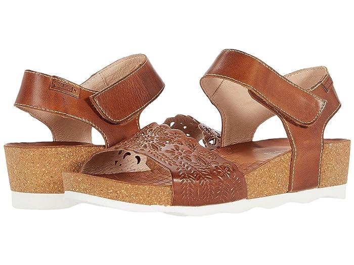 Vintage Sandals | Wedges, Espadrilles – 30s, 40s, 50s, 60s, 70s Pikolinos Mahon W9E-0910 Brandy Womens Shoes $149.95 AT vintagedancer.com