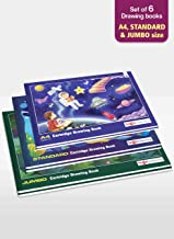 A4, Standard and Jumbo Size Drawing Books   Sketch Books / Art Books for Drawing, Painting and Colouring   36 Cartridge Pa...