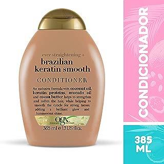 Condicionador Brazilian Keratin Smooth, OGX, 385 ml