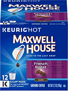 Maxwell House French Roast Keurig K Cup Coffee Pods (72 Count, 6 Boxes of 12)