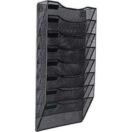 EasyPAG Desk File Holder Organizer Document Rack,Black