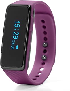 Nuband ACTIV+ Hybrid Fitness Watch with Polyurethane Strap, Purple, 22 (Model: NU-G0002PP)