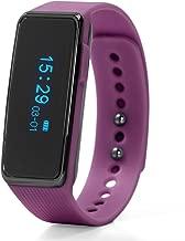 Nuband ACTIV+ Hybrid Fitness Watch with Polyurethane Strap, Purple, 22 (Model: NU-G0002PP)