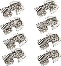 8 x Junker schroefscharnieren 90° met SoftClose en montageaanslag (staal, vernikkeld, verstelbaar) voor klepgewicht tot 2,...
