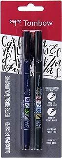 Tombow 62038 Fudenosuke Brush Pen, 2-Pack. Soft and Hard...