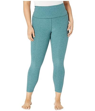 Beyond Yoga Plus Size High-Waisted Midi Leggings (Wild Sage/Deep Sage) Women