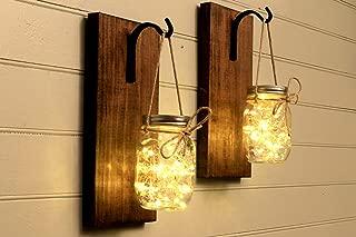 Mason Jar Sconce Mason Jar Decor Wall Sconce Mason Jar Wall Decor Rustic Decor Set Of 2