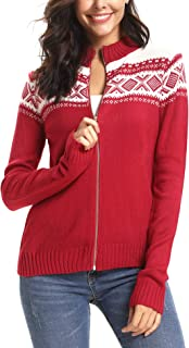 Womens Ugly Christmas Cardigan Open Front Ugly Sweater Pullover