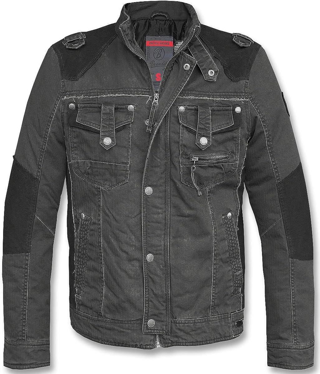 Brandit Hombres Blake Vintage Chaqueta Negro