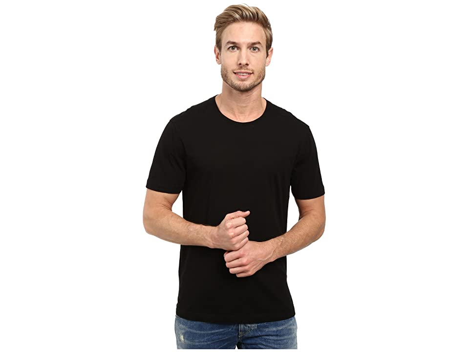 Image of Agave Denim Agave Supima Crew Neck Short Sleeve Tee (Black) Men's T Shirt