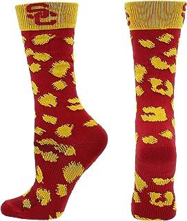 TCK USC Trojans Socks Womens Savage Crew Socks